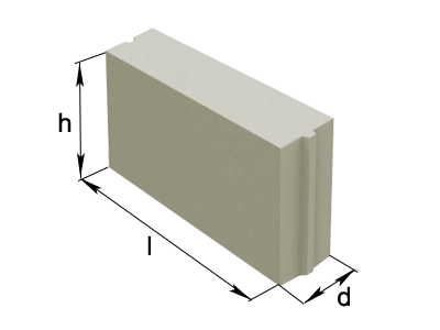 толщина перегородочного блока